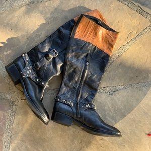 💥 Sam Edelman leather moto boots EUC